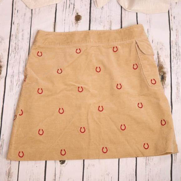 f694ed6310 Lilly Pulitzer Skirts | Skirt Corduroy Red Horseshoe Print | Poshmark